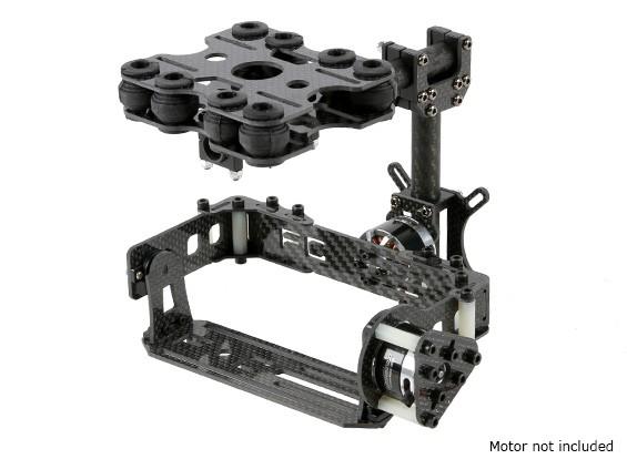 Shock Absorbing 2 Axis borstelloze Gimbal Kit voor Card Type Cameras - Carbon Fiber Version