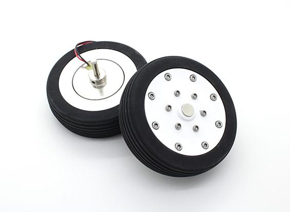 "Dr. MadThrust 3.0 ""/ 75.5mm Main Wielen met Electro Magnetic Braking System (2pc)"
