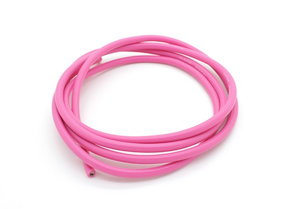 Turnigy Pure-Silicone Draad 14AWG 1m (Pink)