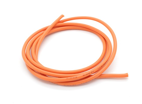 Turnigy Pure-Silicone Draad 16AWG 1m (Orange)