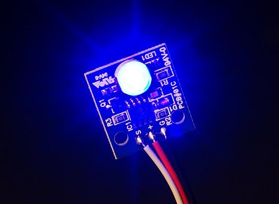 Hobbyking LED PCB Strobe Ball (12V) Blauw
