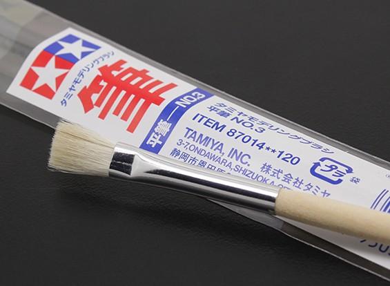 Tamiya Standaard Flat Brush (punt 87.014)