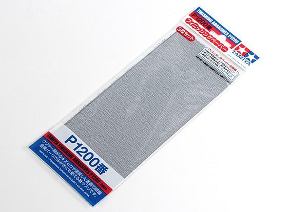 Tamiya Afwerking Wet / Dry Schuurpapier P1200 Grade (3pc)