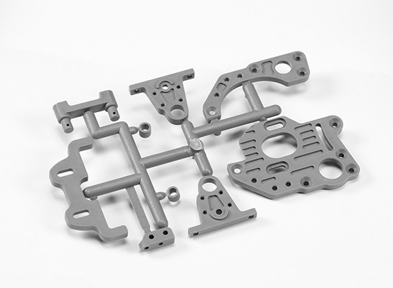 Motor Mount Platen / Center Pulley Houders / Shaft Spacers / batterijhouder / Achter Belt Stabilizer Holder