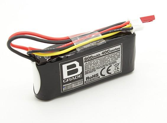 B-grade 800mAh 2S 40C LiPoly Battery