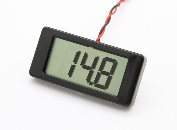 LCD Digital Panel Mount voltmeter 4 / 25V