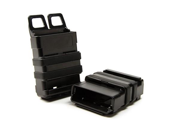 FMA FastMag tijdschrift holster voor M4 / AR15 (zwart, 2 stuks set)