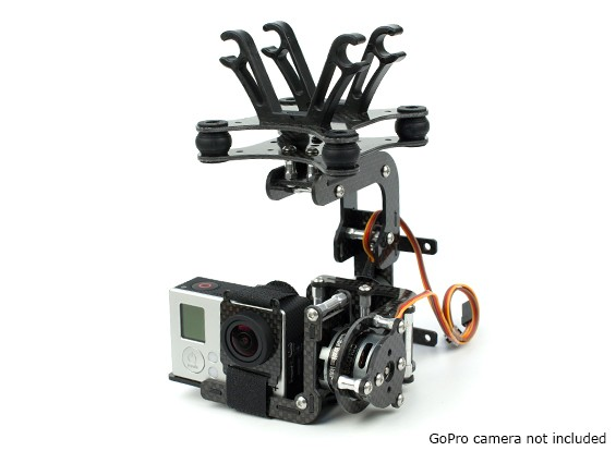 HobbyKing Brushless ActionCam Gimbal Met 2208 Motors en 3K Carbon Construction