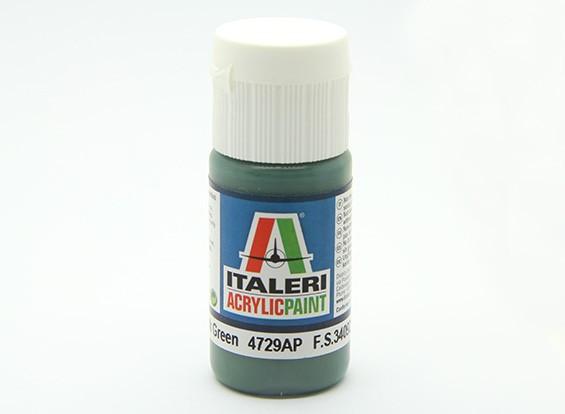 Italeri Acrylverf - Flat Euro 1 Dark Green
