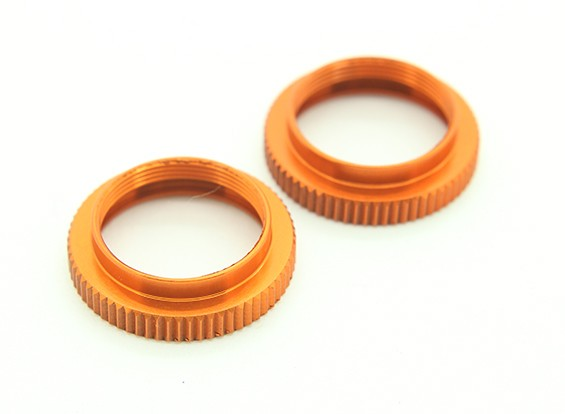 XRAY T4 2014 1/10 Touring Car - Aluminium Shock Adjustable Nut - Orange (2) - T4