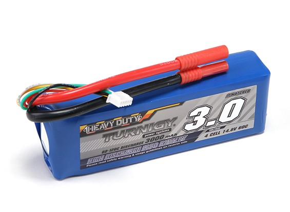 Pack Turnigy Heavy Duty 3000mAh 4S 60C Lipo