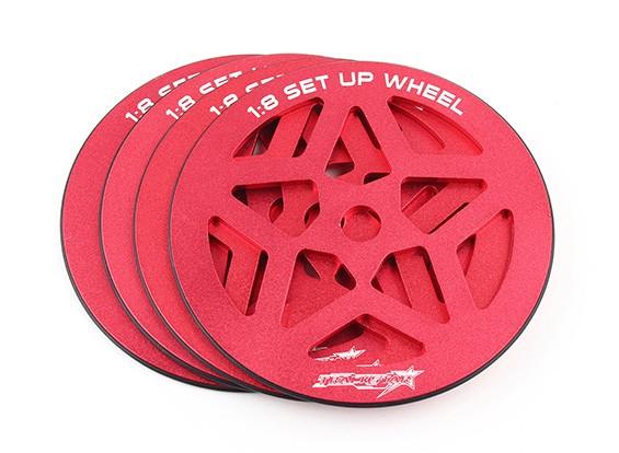 TrackStar 1/8 Schaal Set-up Wheel Set (4 stuks)