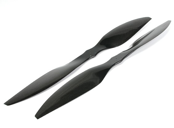 Multistar Carbon Fiber High Efficiency Light Core Propeller 25x6.5 Black (CW / CCW) (2 stuks)