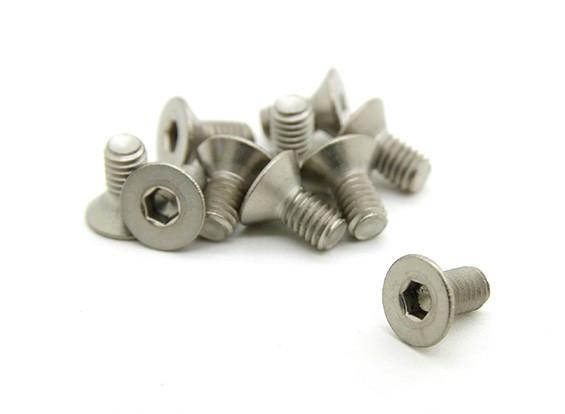 Titanium M3 x 6 Verzonken Hex Screw (10st / bag)