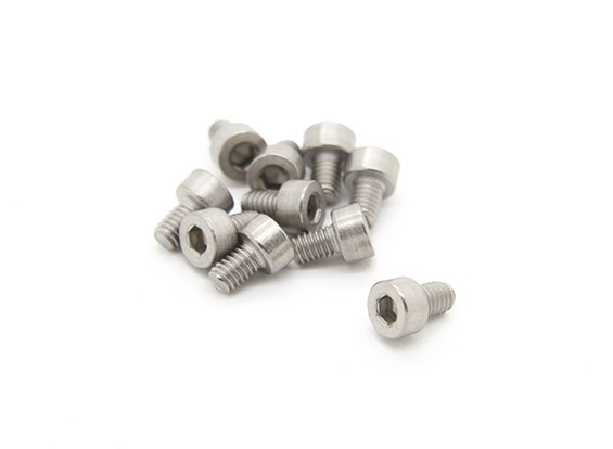 Titanium M4 x 6 Sockethead Hex Screw (10st / bag)