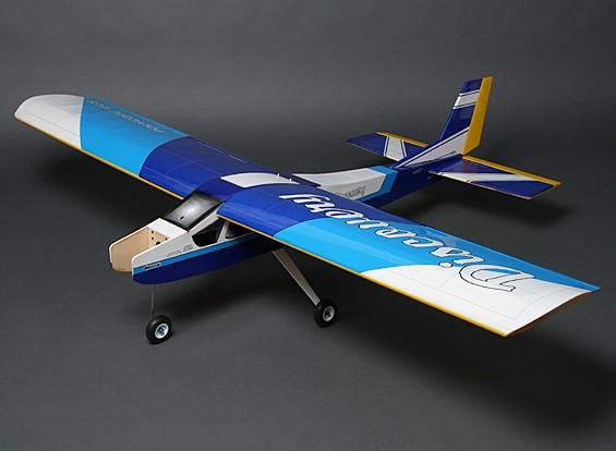 Discovery (Blauw) Balsa Hi-Wing Trainer GP / EP 1620mm (ARF)