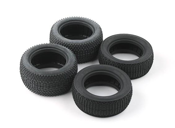 Voor en achter Tire set (4 stuks) - BSR Racing BZ-222 10/01 2WD Racing