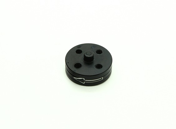 CNC Aluminium Quick Release Self-Aanscherping Prop Adapter - Black (Prop Side) (tegen de klok)