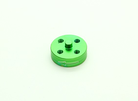 CNC Aluminium Quick Release Self-Aanscherping Prop Adapter - Green (Prop Side) (tegen de klok)