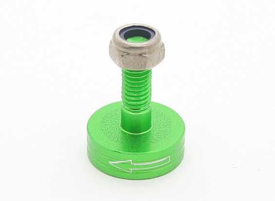 CNC Aluminium M6 Quick Release Self-Aanscherping Prop Adapter - Green (Prop Side) (tegen de klok)