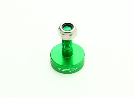 CNC Aluminium M6 Quick Release Self-Aanscherping Prop Adapter - Green (Prop Side) (met de klok mee)