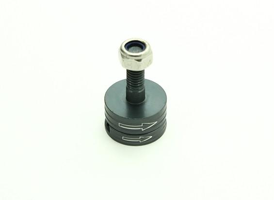 CNC Aluminium M6 Quick Release Self-Aanscherping Prop Adapter Set - Titanium (met de klok mee)
