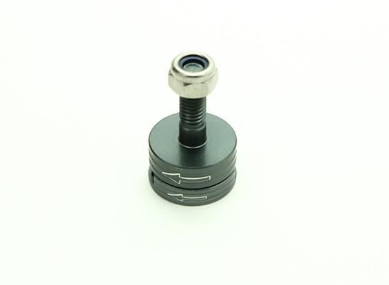 CNC Aluminium M6 Quick Release Self-Aanscherping Prop Adapter Set - Titanium (tegen de klok)