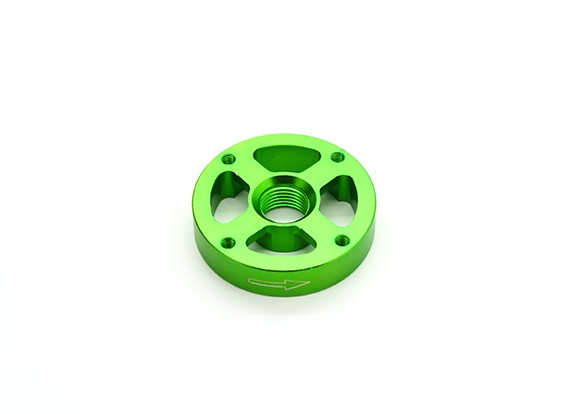 CNC Aluminium M10 Quick Release Self-Aanscherping Prop Adapter - Green (Prop Side) (tegen de klok)