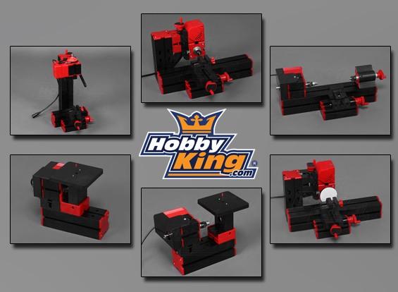 Hobbyking 6 in 1 Machine Tool - Schuren / Draaien / Zagen / Hout Draaien / Boren / frezen