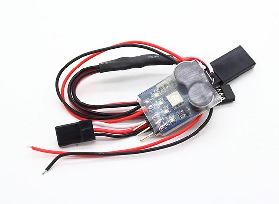 Turnigy 3-In-1 Battery Monitor, signaalverlies en Lost Airplane Alarm