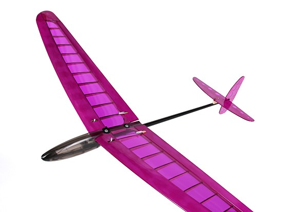 HobbyKing ™ Mini DLG Pro w / Ailerons Balsa - Paars 990mm (PNF)