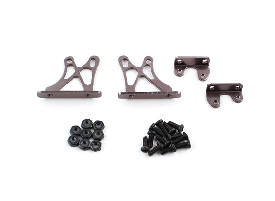 10/01 Aluin. Verstelbare Wing Ondersteuning Frame - Low (Titanium)