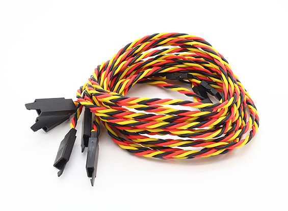 Twisted 80cm Servo Lead Extention (JR) met haak 22AWG (5pcs / bag)