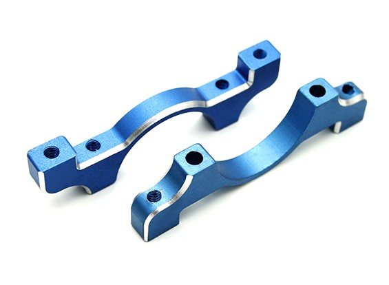 Blauw geanodiseerd CNC aluminium buis Clamp 22mm Diameter