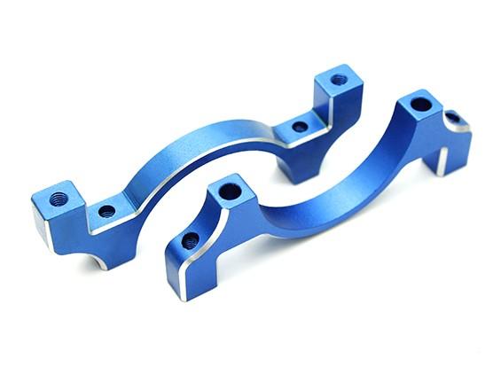 Blauw geanodiseerd CNC aluminium buis Clamp 30mm Diameter