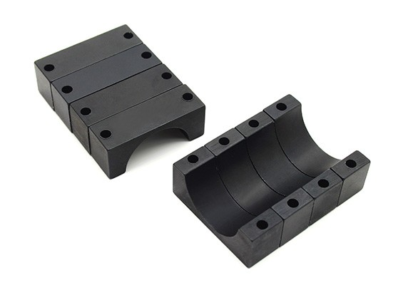 Zwart geanodiseerd CNC 10mm aluminium buis Clamp 22mm Diameter