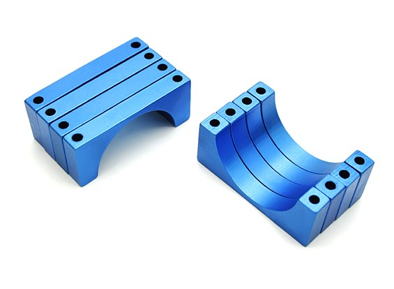 Blauw geanodiseerd CNC 6mm aluminium buis Clamp 30mm Diameter