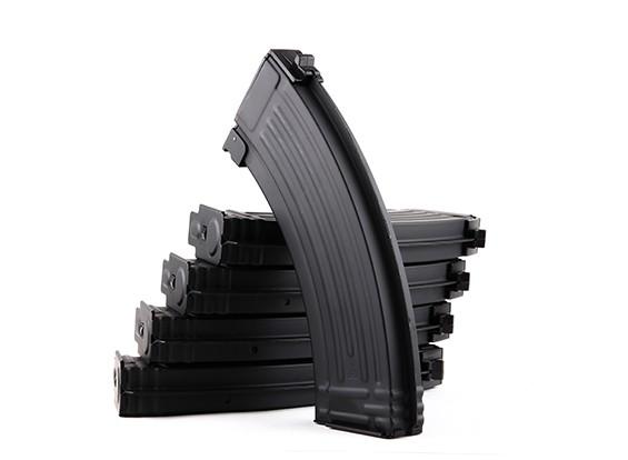 King Arms 140rounds metal tijdschriften voor Marui AK AEG-serie (zwart, 5 stuks / doos)
