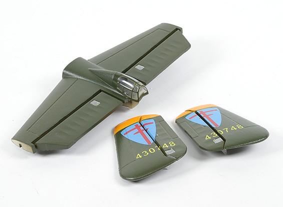 HobbyKing B-25 1250 - Vervanging Main Wing Tail Set