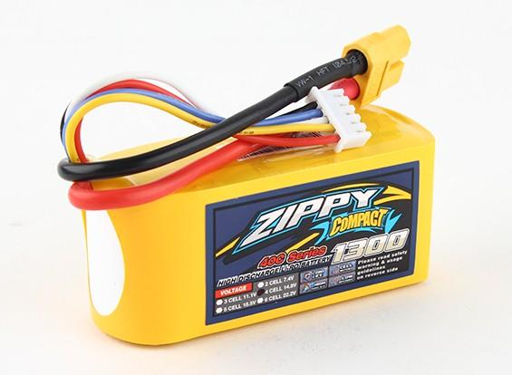 Pack ZIPPY Compact 1300mAh 4s 40c Lipo