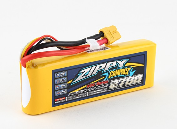Pack ZIPPY Compact 2700mAh 3s 60c Lipo