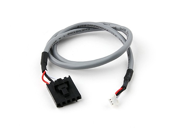 400mm 5 Pin Molex / JR tot 3 Pin White Afgeschermde Connector Lead