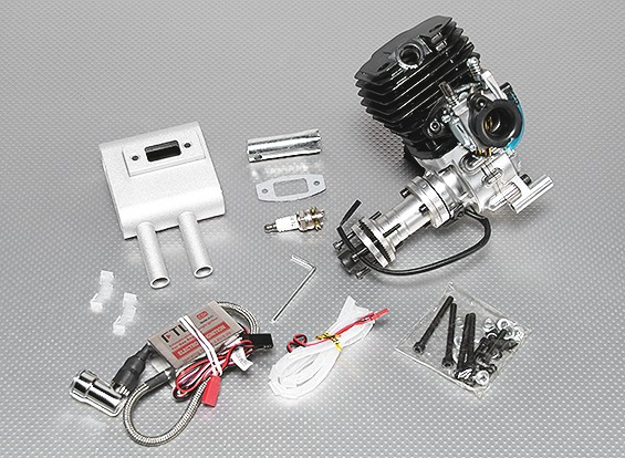 52cc Gas engine w / CD-Ignition 3.2kwplus overboor