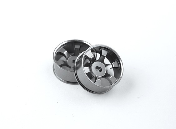 Aluminium Voorwieltjes 2.5mm Offset Turnigy TZ4 AWD - 6 Spoke (2pc)