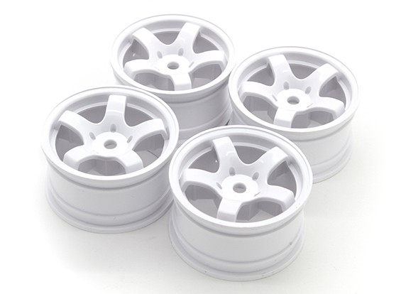 Sweep Mini 5 Spoke Wheel Type A - White (4 stuks)