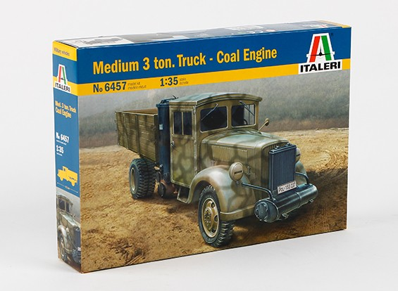 Italeri 1:35 Schaal Medium 3 Ton Truck Coal Engine plastic model kit