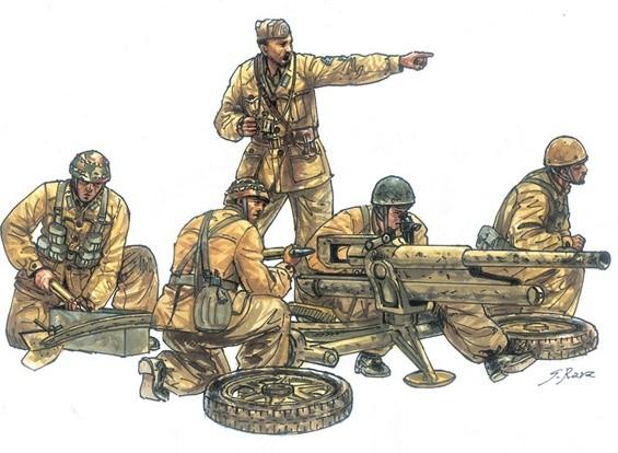 Italeri 1:35 Schaal Cannone Da 47/32 Mod. 39 met bemanning plastic model kit