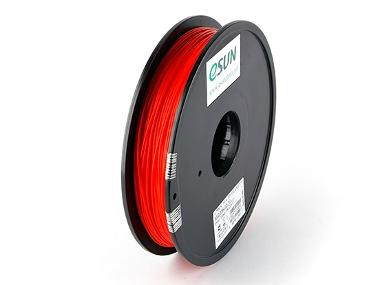 ESUN 3D-printer Filament Red 1.75mm PLA 0,5 kg Spool