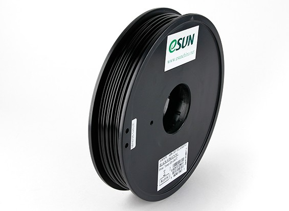 ESUN 3D-printer Filament Black 3mm ABS 0,5 kg Spool