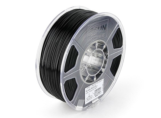 ESUN 3D-printer Filament Black 1.75mm ABS 1kg Roll